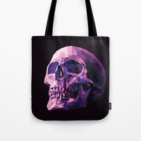 skull Tote Bags featuring Skull by Roland Banrevi