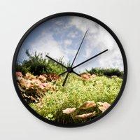 fairy tale Wall Clocks featuring Fairy Tale by Tom Radenz