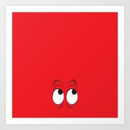 Monster Eyes Red Art Print