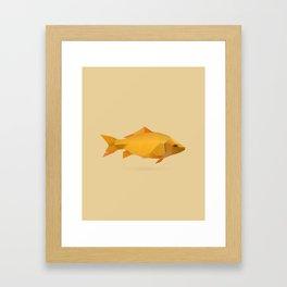 Geometric Goldfish - Modern Animal Art Framed Art Print
