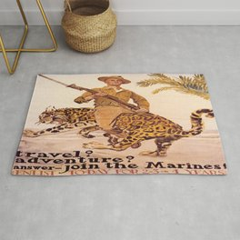 Vintage poster - Join the Marines! Rug