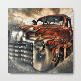 Old Muscle Fenders Metal Print