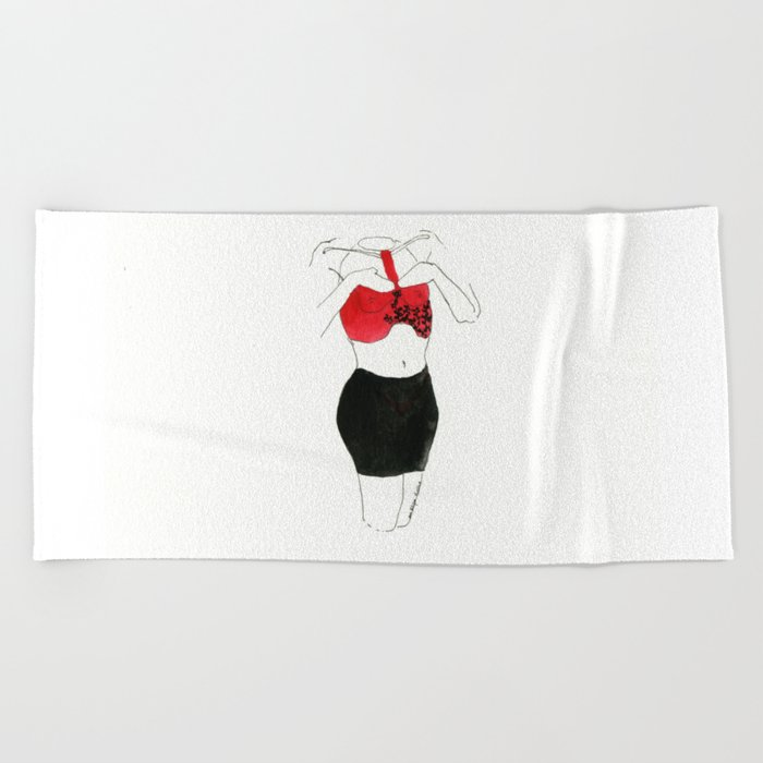 With heart and skirt Beach Towel