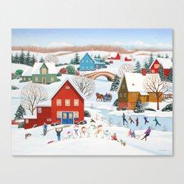 Snow Family Canvas Print