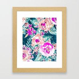 FULL ON FLORAL Framed Art Print