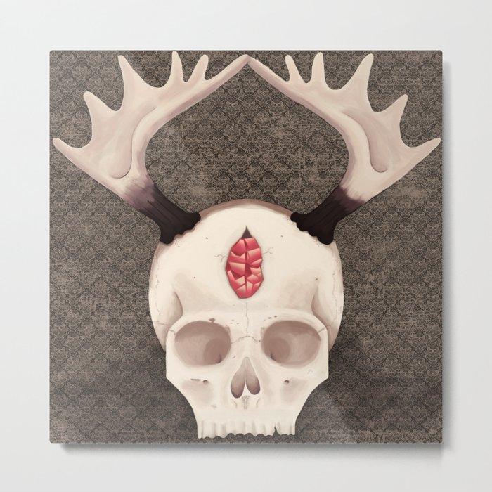 Occult Skull Metal Print