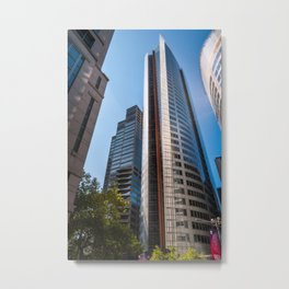 Skyscraper at Aurora Place in Sydney catching the afternoon sunlight. Metal Print