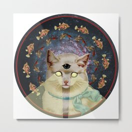 Praise Kitty Metal Print