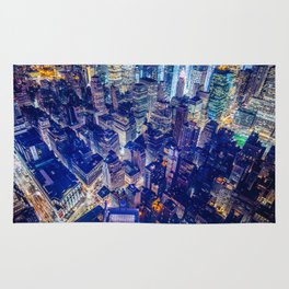 Colorful New York City Skyline Rug