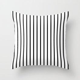 Vertical Black Stripes Pattern Throw Pillow