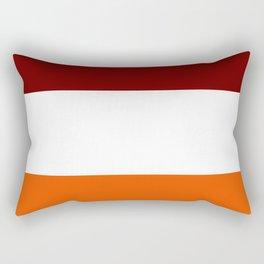 TEAM COLORS 8...Maroon , orange white Rectangular Pillow