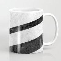 White Striped Marble Mug