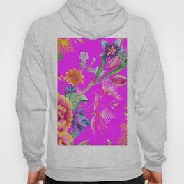 Bold Summer Print on Magenta Pink Hoody