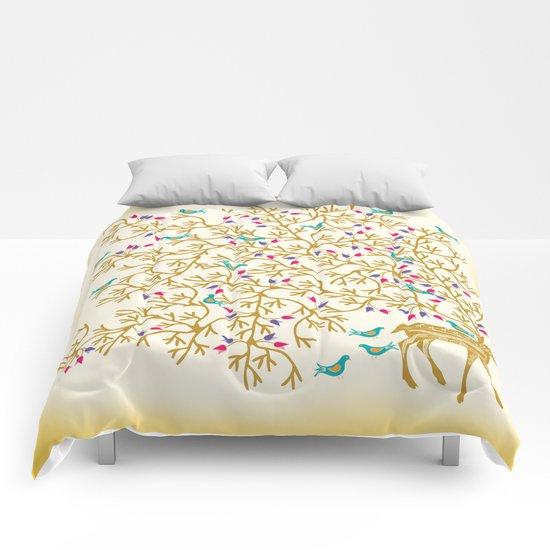 Deer Beautiful Burden Comforters