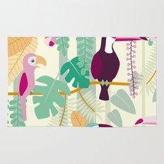 Rainforest birds Rug