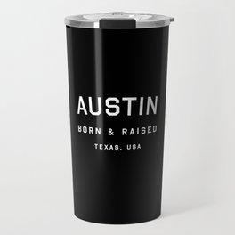 Austin - TX, USA (Black Arc) Travel Mug