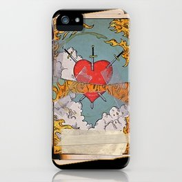 Halsey Heart Tarot card iPhone Case