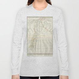 Map, Palestine, holy, land, syria, isreal, province, gaza, strip, jerusalem, Long Sleeve T-shirt