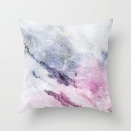 Cosmic pink marble Throw Pillow