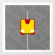 Marshmallow Iron Man Art Print