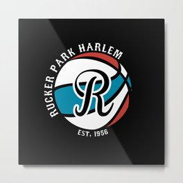 Rucker Park Harlem , New York City Basketball Metal Print