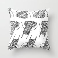 the wire Throw Pillows featuring Wire Child by Peerro