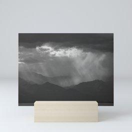 Dramatic Sky, Salton Sea B&W Mini Art Print