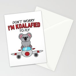 Don't Worry I'm Koalafied To Fly Gift Stationery Cards