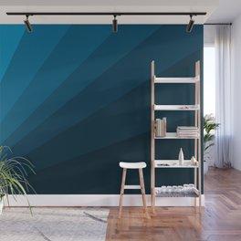 The blue fan, geometric design in mystic blue Wall Mural