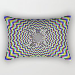 Crinkle Cut Psychedelia Rectangular Pillow