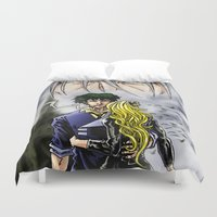 cowboy bebop Duvet Covers featuring Cowboy Bebop - A Walk In The Rain by MarioRojas