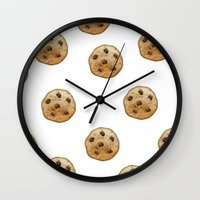 emoji Wall Clocks featuring COOKIE EMOJI by FaniS