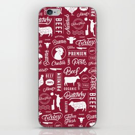 Butchery Meat Lovers iPhone Skin