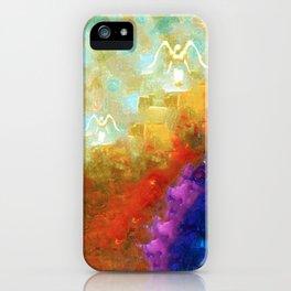 Angels Among Us - Emotive Spiritual Healing Art iPhone Case