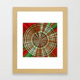 Holiday Bullseye Framed Art Print