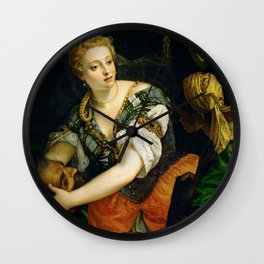 """Veronese (Paolo Caliari) """"Judith with the Head of Holophernes"""" Wall Clock"""