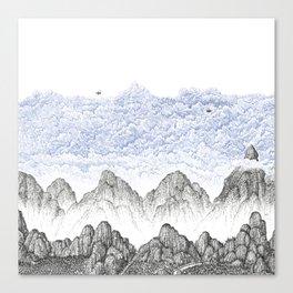 Cobalt Cloudy Mountains 1 Canvas Print