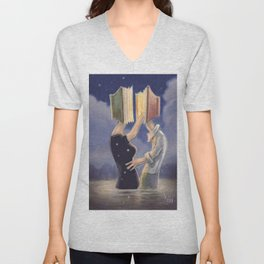 LOVE IS ALL YOU READ Unisex V-Neck