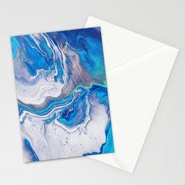 White Blue Galaxy - Milky Way Stationery Cards