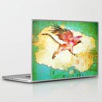 mythology Laptop & iPad Skins featuring Gryphon mythology by Ganech joe