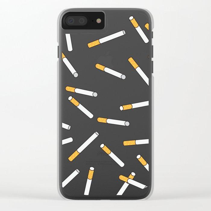 Cigarette Dreams. Clear iPhone Case