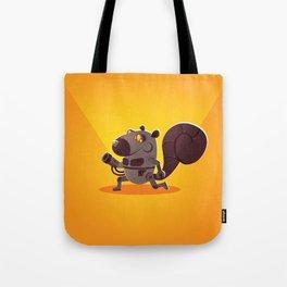 Robo Squirrel Tote Bag