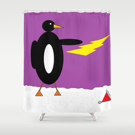 He who Summons the Thunder Shower Curtain