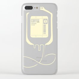 Coffee Transfusion - Black Clear iPhone Case