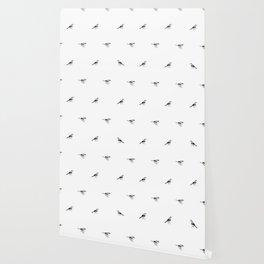 Birds Black And White Wallpaper