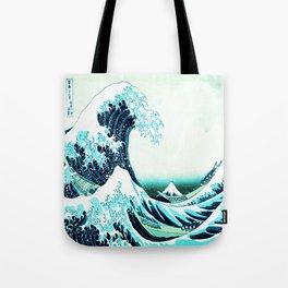 the great wave : aqua teal Tote Bag