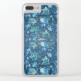 Turtle Moon Clear iPhone Case