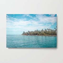 Blue and turquoise paradise of the San Blas Islands, Panama in the Caribbean Sea Metal Print