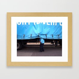Man & Van Framed Art Print