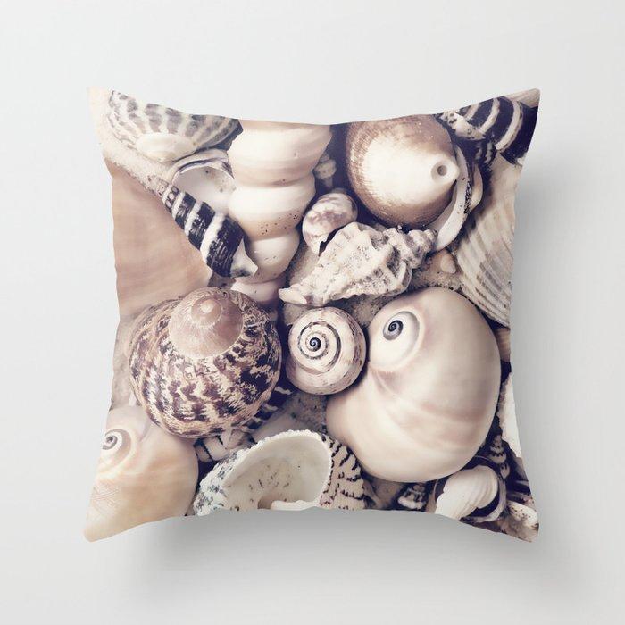 Vintage  Sea Shell Collection Coastal Style Deko-Kissen